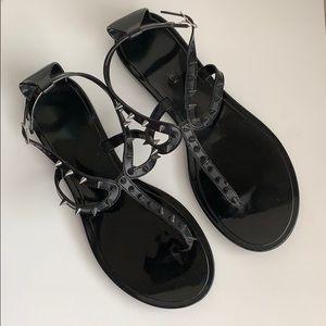 Steve Madden Shoes - 🌸 STEVE MADDEN Jelly Sandal w/ Spikes, Black